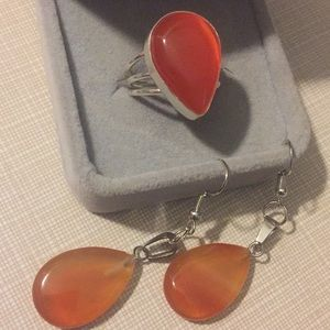 Jewelry - NEW Carnelian Ring and earrings